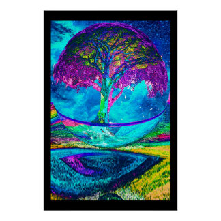 Tree of Life Meditation Poster