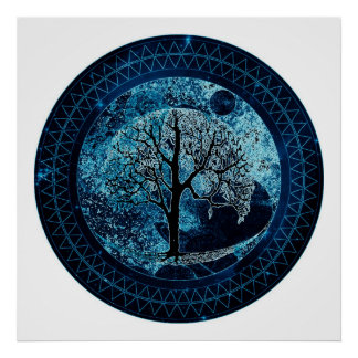 Tree of Life Midnight Sky Posters
