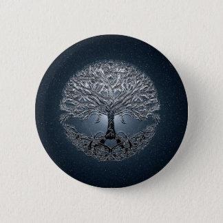 Tree of Life Nova Blue 6 Cm Round Badge