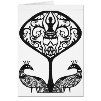 """Tree of Life"" papercut design by Jennifer Kuhns Card"
