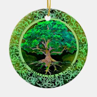 Tree of Life Patience Round Ceramic Decoration