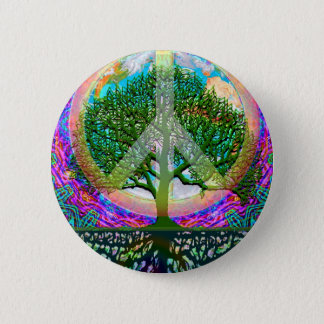 Tree of Life Peace 6 Cm Round Badge