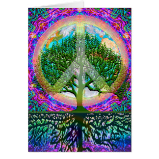 Tree of Life Peace Card