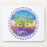 Tree of Life Peace, Love & Balance Mouse Pad