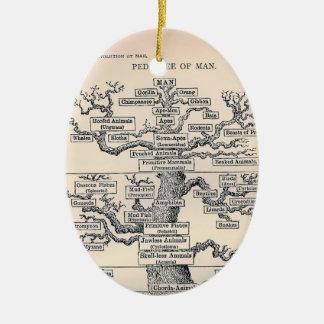 Tree Of Life / Pedigree Of Man Ceramic Oval Decoration