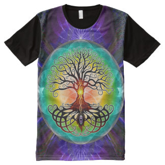 Tree of Life Print All-Over T-Shirt All-Over Print T-Shirt