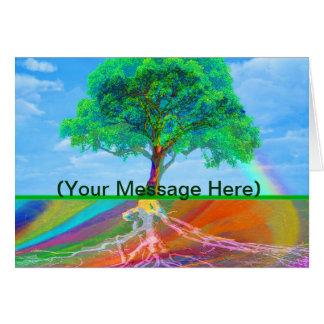 Tree of Life Rainbow Greeting Card