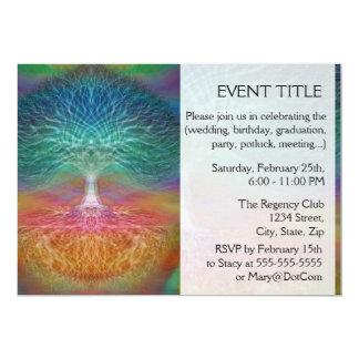 Tree of Life Rainbow Hearts 13 Cm X 18 Cm Invitation Card