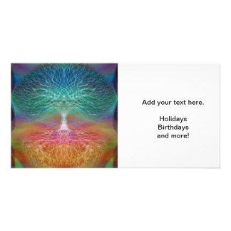Tree of Life Rainbow Hearts Personalised Photo Card