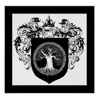 Tree of Life Shield of Arms Poster