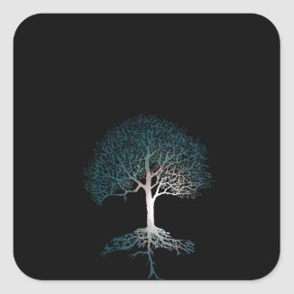 Tree of Life Silent Night Square Sticker