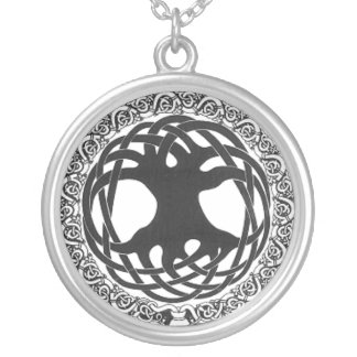 Tree of Life Silver Plated Necklace