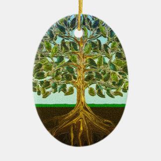 Tree of Life Simple Pleasures of Life Ceramic Oval Decoration