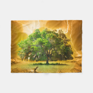 Tree of Life Small Fleece Blanket