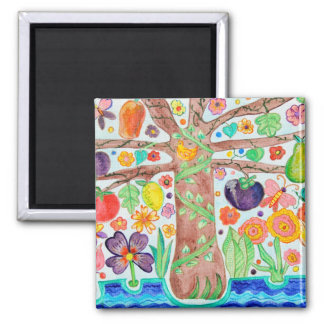 Tree of Life Square Magnet