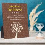 Tree of Life Star of David Bar-Bat Mitzvah Plaques