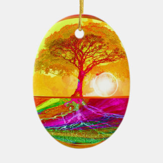 Tree of Life Sunrise Christmas Ornament
