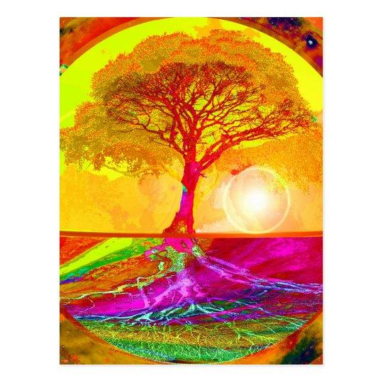 Tree of Life Sunrise Postcard