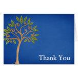 Tree of Life Swirls Blue Thank You