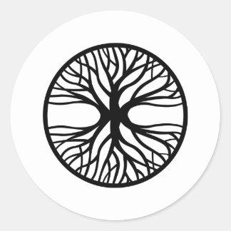 Tree Of Life Tattoo Round Sticker