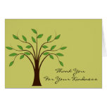 Tree of Life Thank You For Your Kindness Custom Note Card