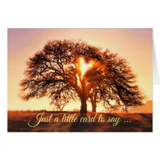 Tree of Life Thinking of You Cute Card