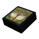 Tree of Life/Tiffany Stained Glass Window Large Square Gift Box