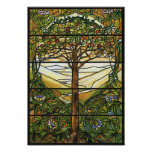 Tree of Life/Tiffany Stained Glass Window Poster