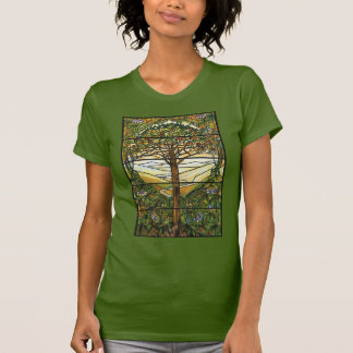 Tree of Life/Tiffany Stained Glass Window T-Shirt