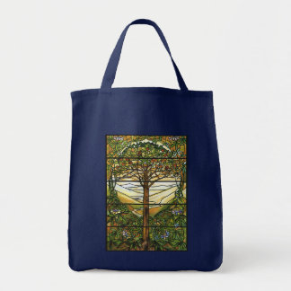 Tree of Life/Tiffany Stained Glass Window Tote Bag