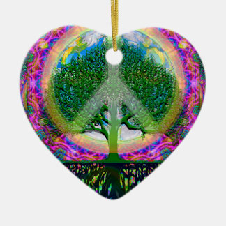 Tree of Life Unity and Peace Christmas Ornament