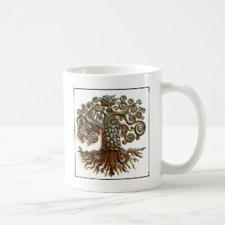 TREE OF LIFE VINTAGE ART BASIC WHITE MUG