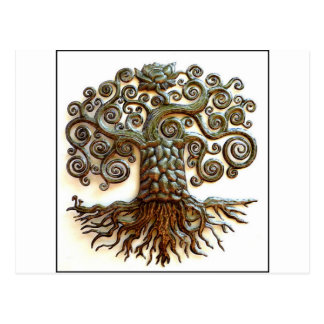 TREE OF LIFE VINTAGE ART POSTCARD