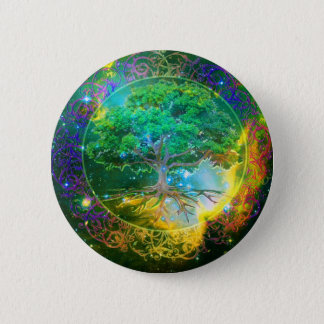 Tree of Life Wellness 6 Cm Round Badge