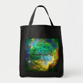 Tree of Life Wellness Grocery Tote Bag