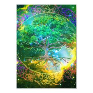 "Tree of Life Wellness 5"" X 7"" Invitation Card"