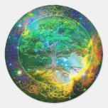 Tree of Life Wellness Round Sticker