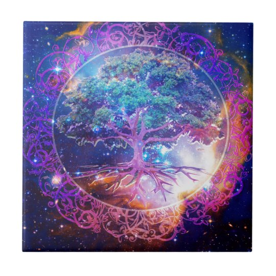 Tree of Life Wellness Small Square Tile