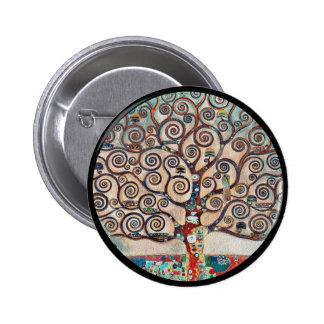 Tree of Life with Birds 6 Cm Round Badge