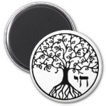 Tree of Life with CHAI 6 Cm Round Magnet