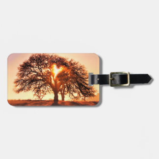 Tree of Life with Heart Luggage Tag