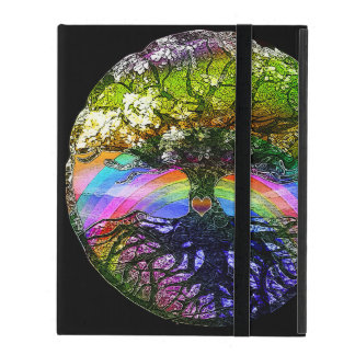 Tree of Life with Rainbow Heart iPad Case
