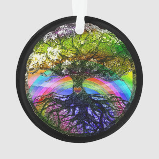 Tree of Life with Rainbow Heart Ornament