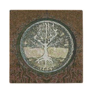Tree of Life Wood Coaster
