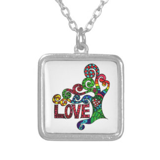 Tree of Love  - Square Pendant Necklace