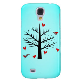 Tree of Love With Hearts And Birds Galaxy S4 Case