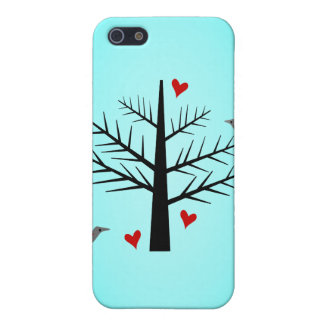 Tree of Love With Hearts And Birds iPhone 5/5S Case