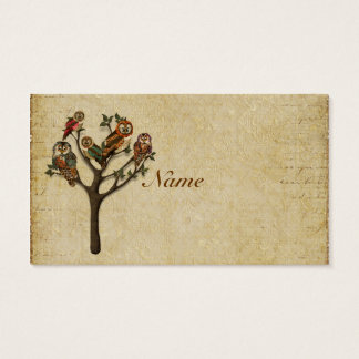Tree of  Owls Business Card/Tags