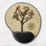 Tree of Owls Monogramed Mousepad Gel Mouse Mat