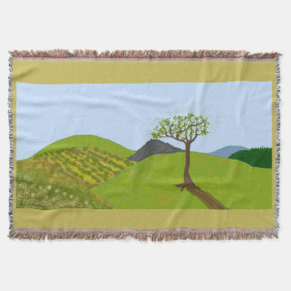 Tree of Spring Energy Cozy Throw Blanket